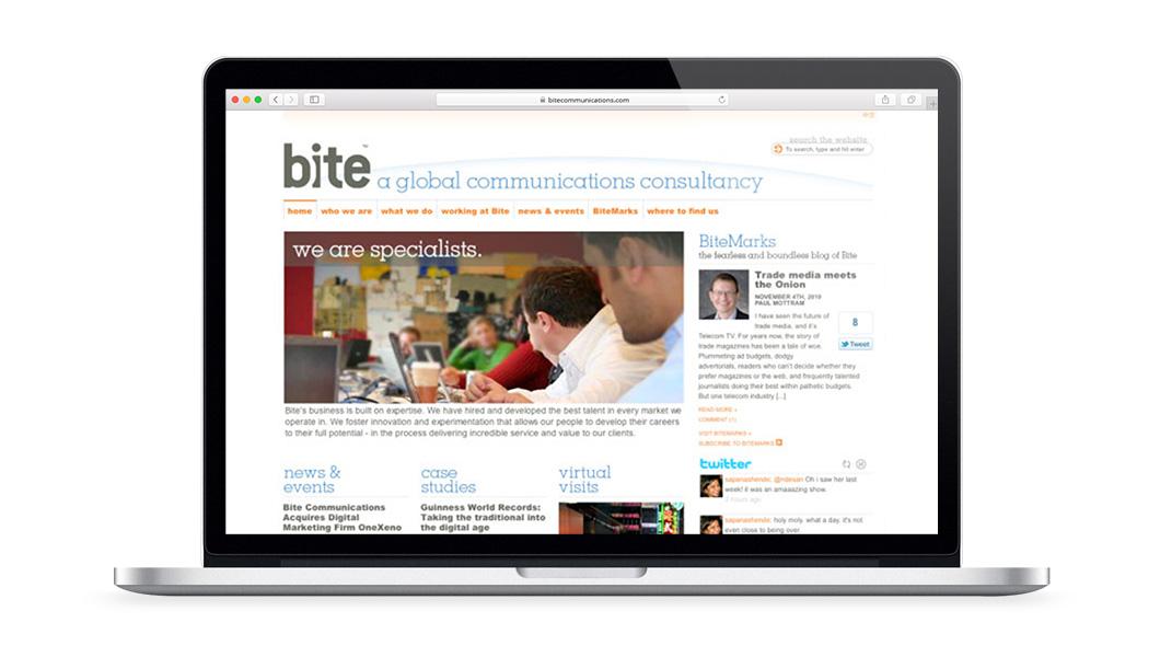 Bite website redesign