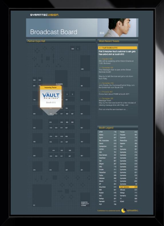 SymantecVision Twitter board